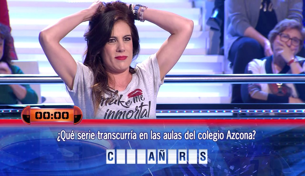 El fallo épico de Alicia Senovilla en '¡Ahora caigo!' con una mítica serie de Antena 3