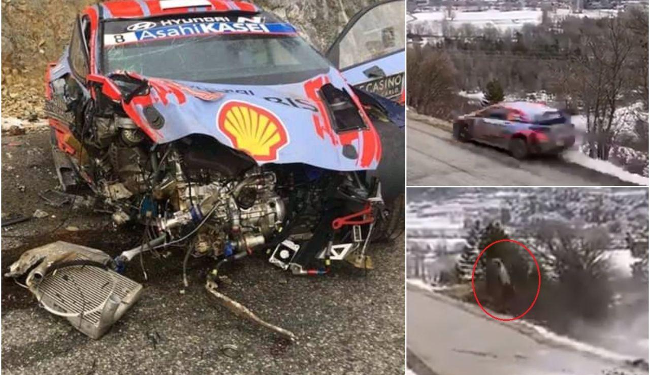 El brutal accidente de Ott Tanak