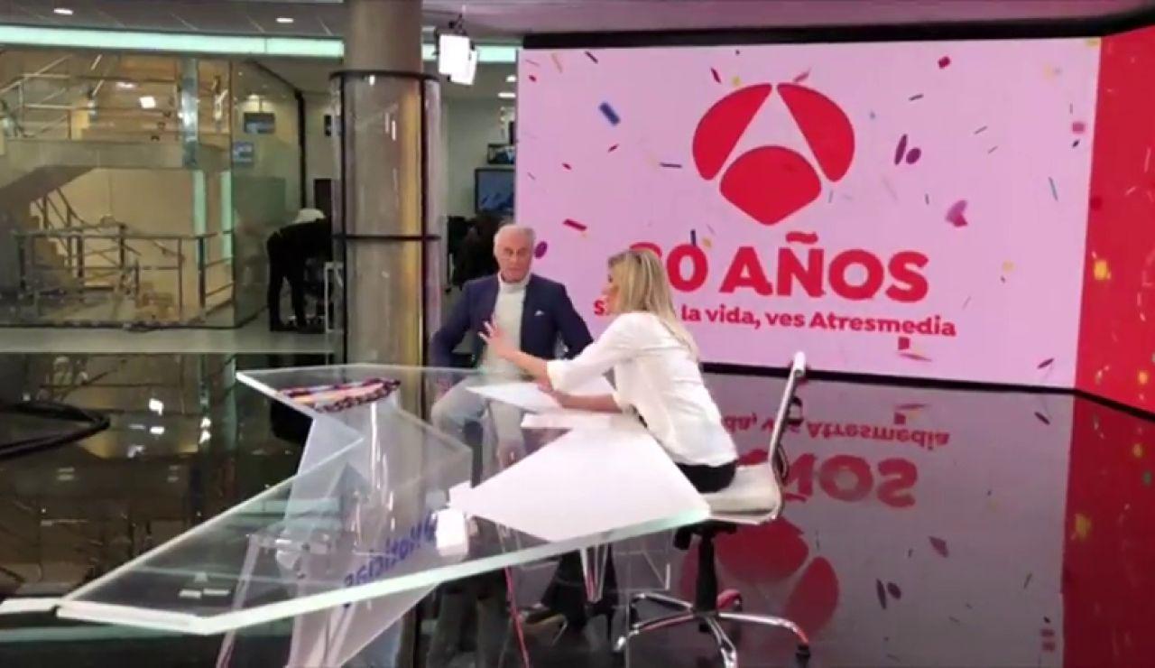 Así hemos vivido el regreso de José María Carrascal en Antena 3