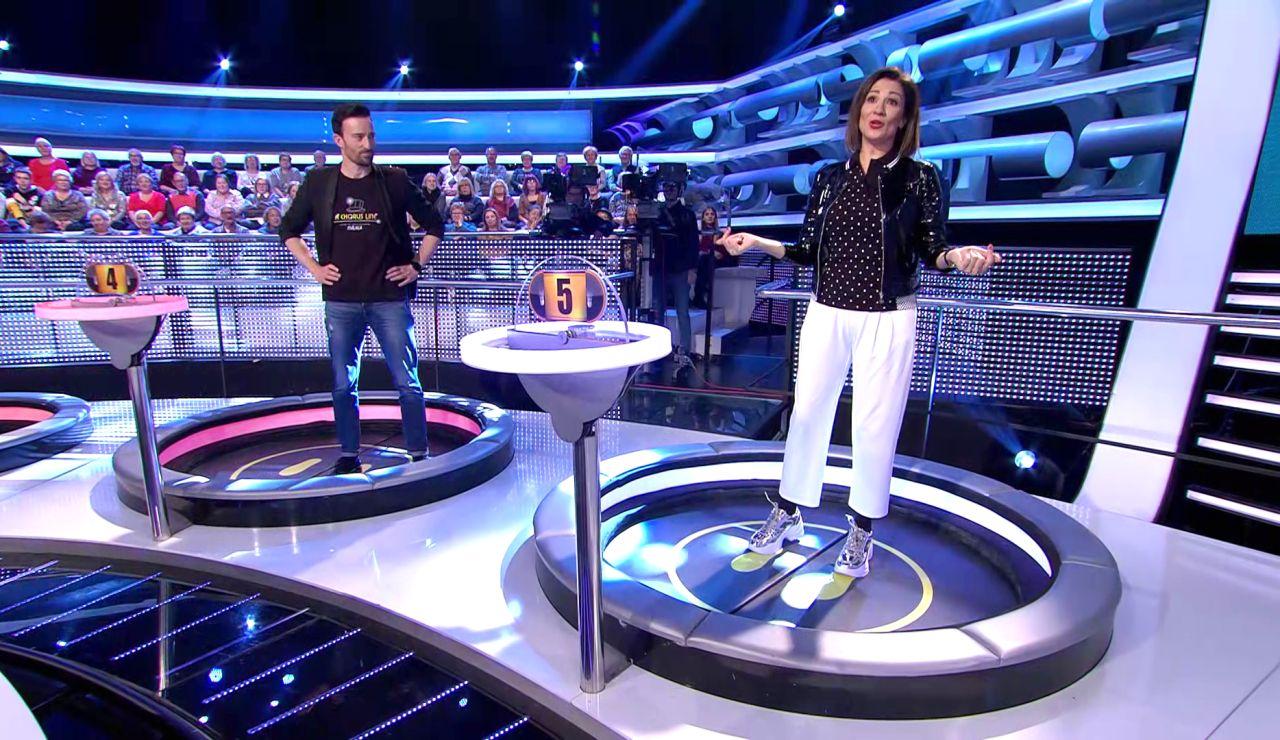 ¿Caerías por la trampilla? Silvia Jato contra Pepón Nieto, el duelo final en el especial 30 años de Antena 3 en '¡Ahora caigo!'