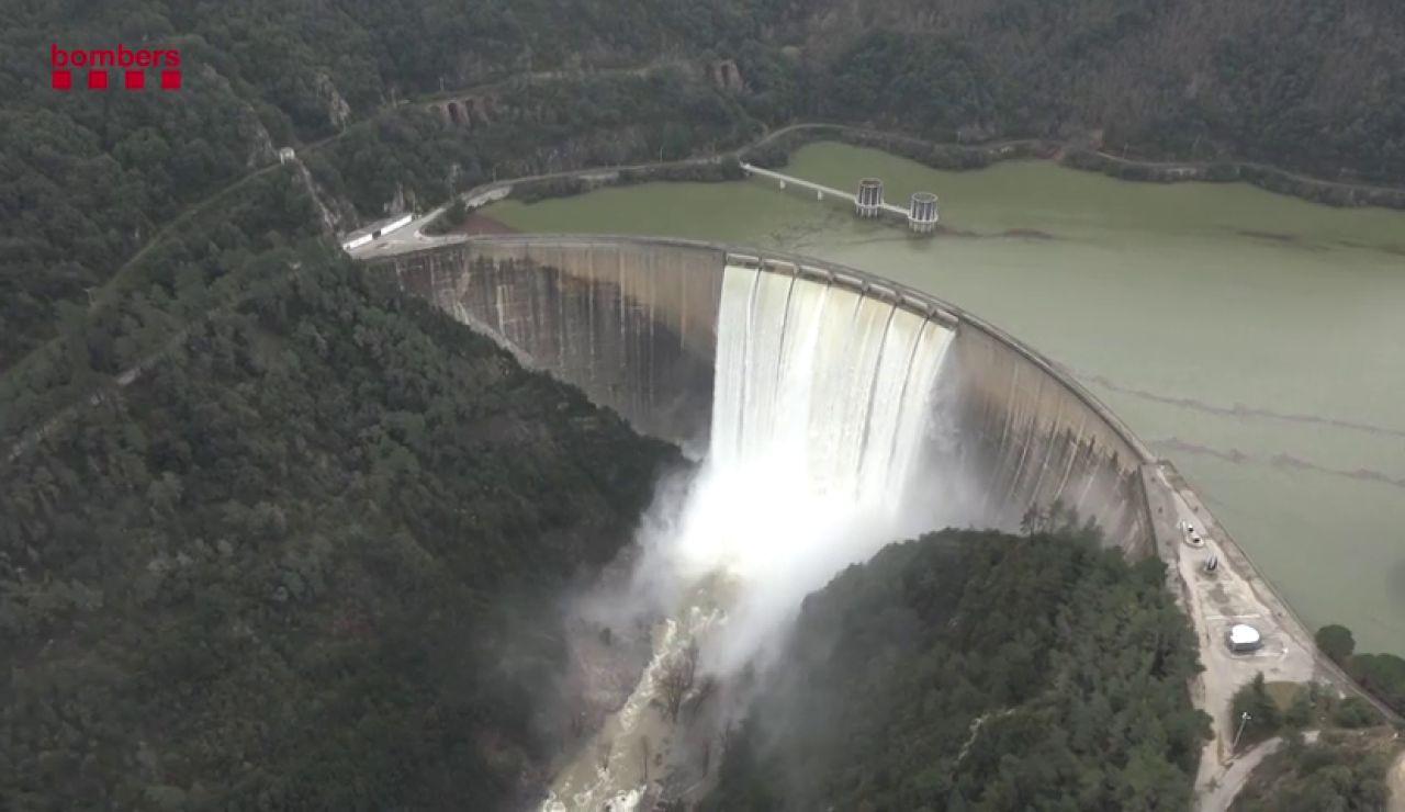 Así son las imágenes aéreas de las inundaciones por los ríos en Cataluña