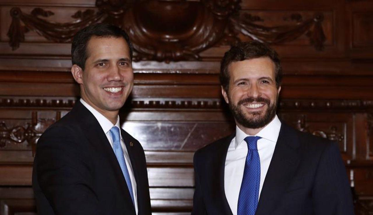 Pablo Casado y Juan Guaidó