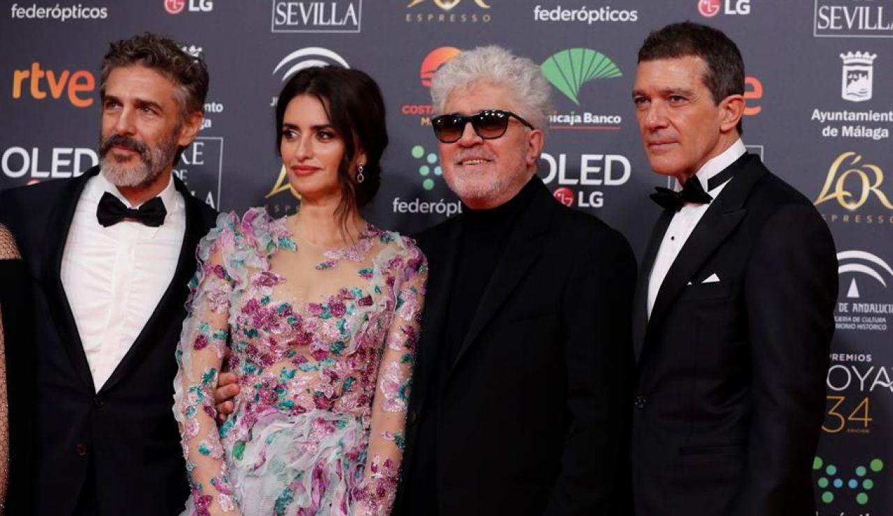 Penélope Cruz, Antonio Banderas y Pedro Almodóvar