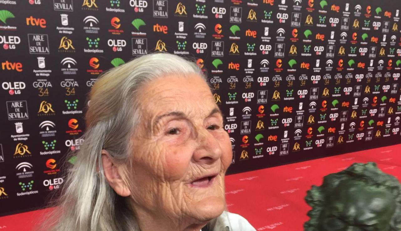 Benedicta Sánchez, premio a actriz revelación en los Goya 2020