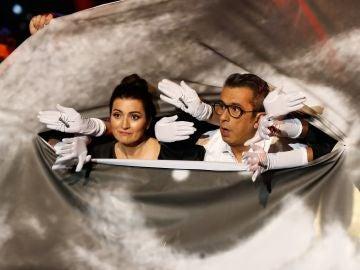 Silvia Abril y Buenafuente durante la apertura de los Goya 2020