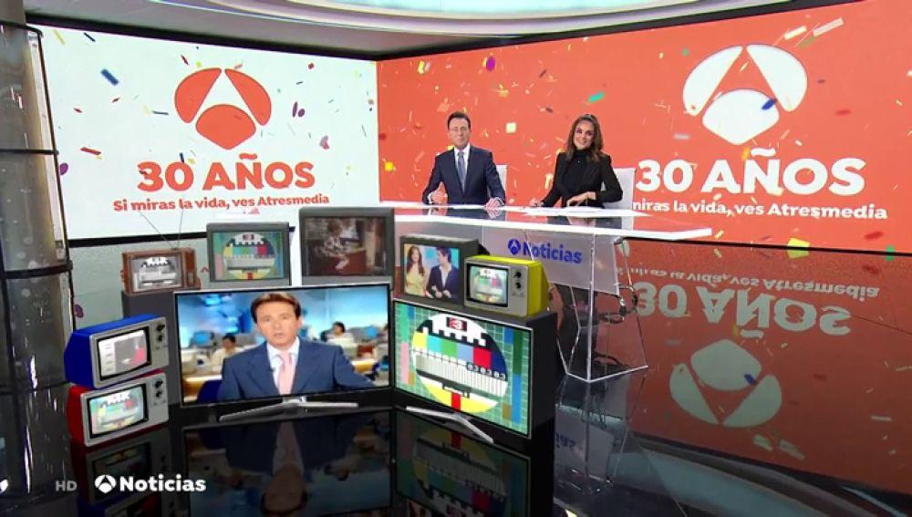 Antena 3 cumple hoy 30 años: tres décadas de noticias y entretenimiento
