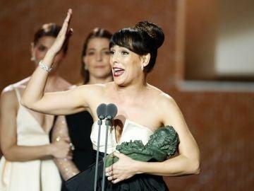 Belén Cuesta recibe el Goya a Mejor Actriz por 'La trinchera infinita'