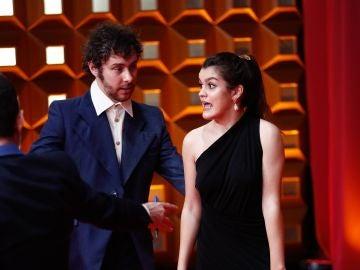Álex de Lucas y Amaia en la alfombra roja de los Premios Goya 2020