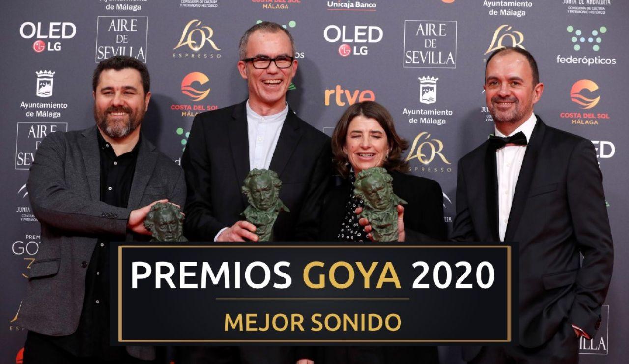 Premios Goya 2020: Iñaki Díez, Alazne Ameztoy, Xanti Salvador y Nacho Royo-Villanova, mejor sonido por 'La trinchera infinita'