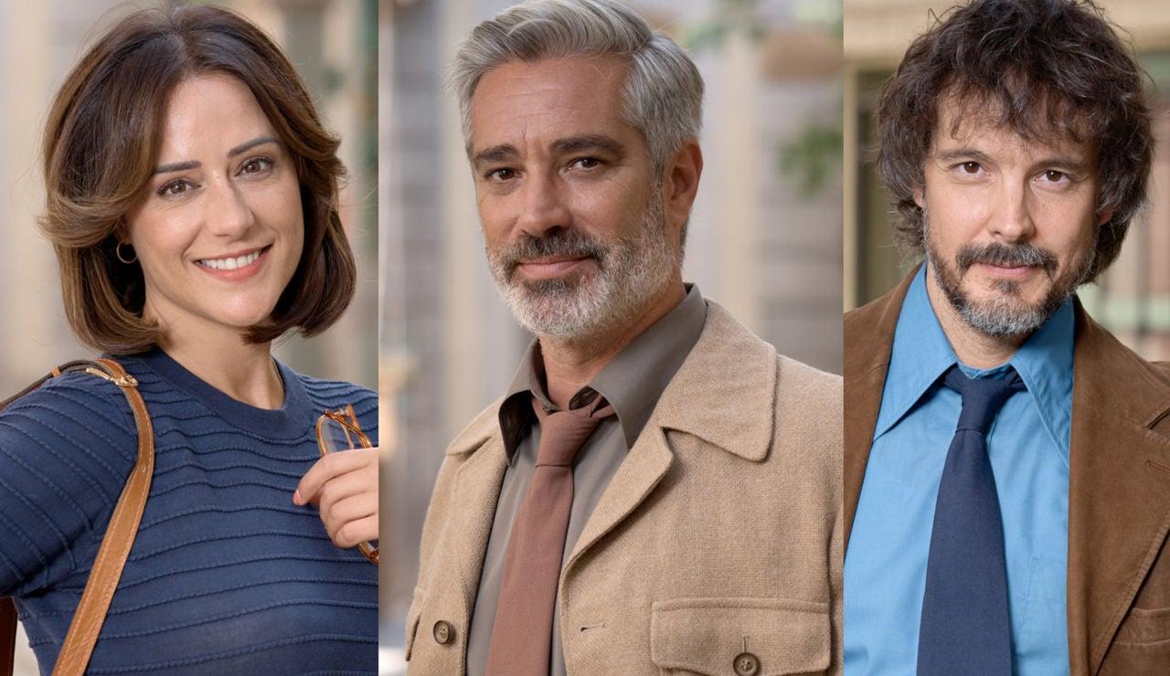 Luz Valdenebro, Adrià Collado y David Janer, actores de 'Amar es para siempre'
