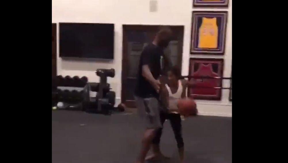 Kobe Bryant y su hija Gianna