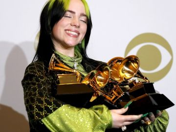 Billie Eilish en los Grammy 2020