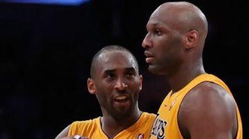 Kobe Bryant y Lamar Odom en un partido con los Lakers