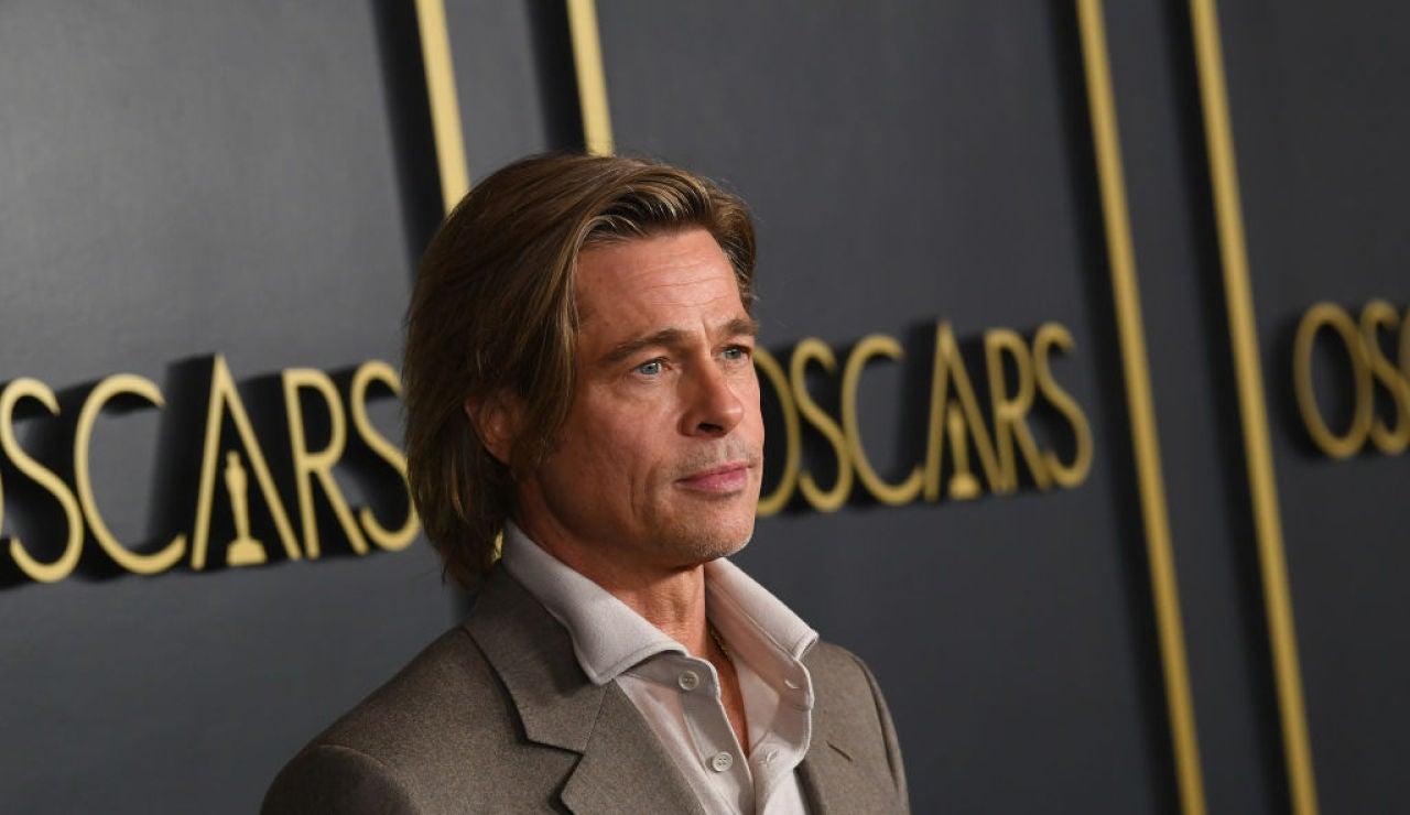 El actor Brad Pitt en la cena de nominados a los Oscar
