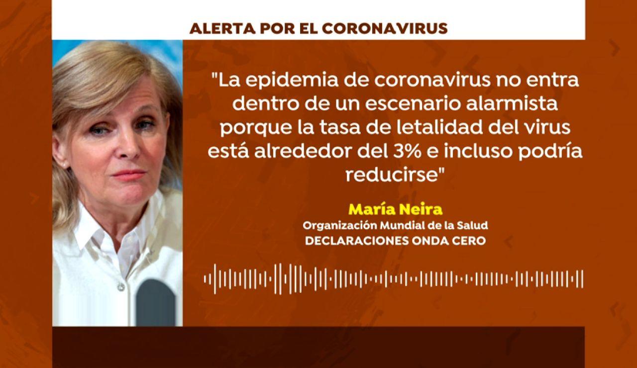 """María Neira, de la OMS: """"No hay razón para alarmarse por el coronavirus en España"""""""