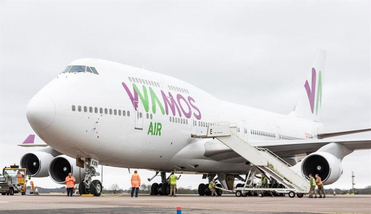 Avión que traslada a los españoles desde Wuhan