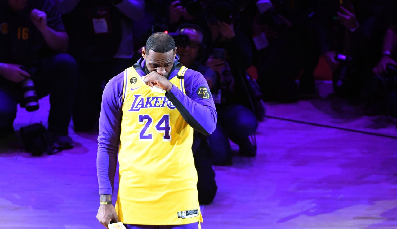 Las emotivas palabras de Lebron James a Kobe Bryant en el Staples Center