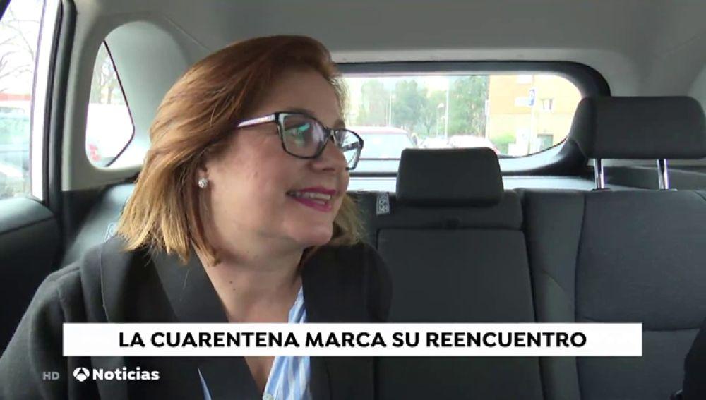 """La mujer de uno de los españoles aislados por el coronavirus en el hospital: """"Mis hijas no podrán ver a su padre"""""""