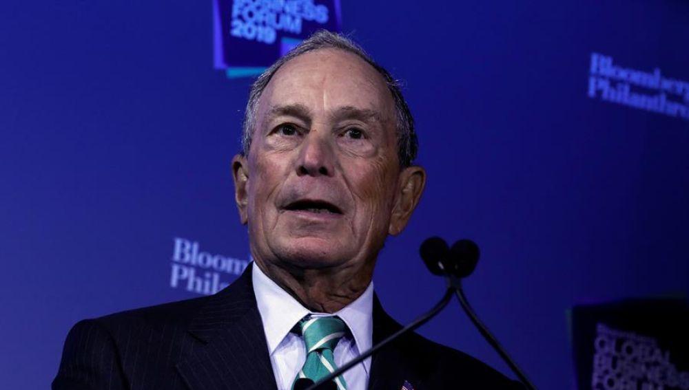 Mike Bloomberg, precandidato presidencial demócrata y exalcalde neoyorquino.
