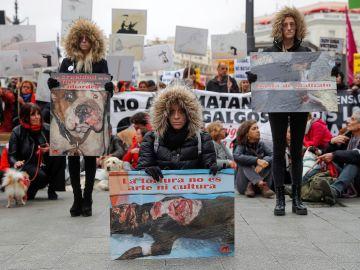 Miles de personas se manifiestan en contra de la caza en España