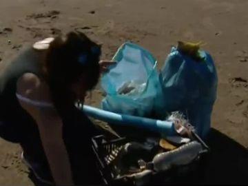 La basura de 'Gloria' en el Delta del Ebro
