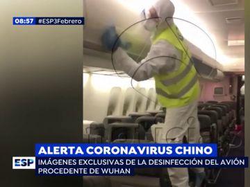 Limpieza del avión.