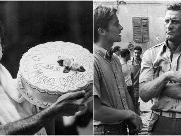Manolo Orantes y Kirk Douglas, en dos imágenes de archivo