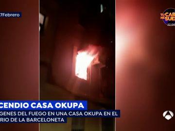 Incendio casa okupa