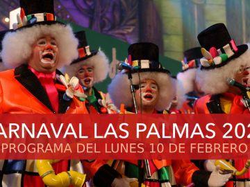 Carnaval Las Palmas 2020: Programa del carnaval hoy lunes 10 de febrero de 2020