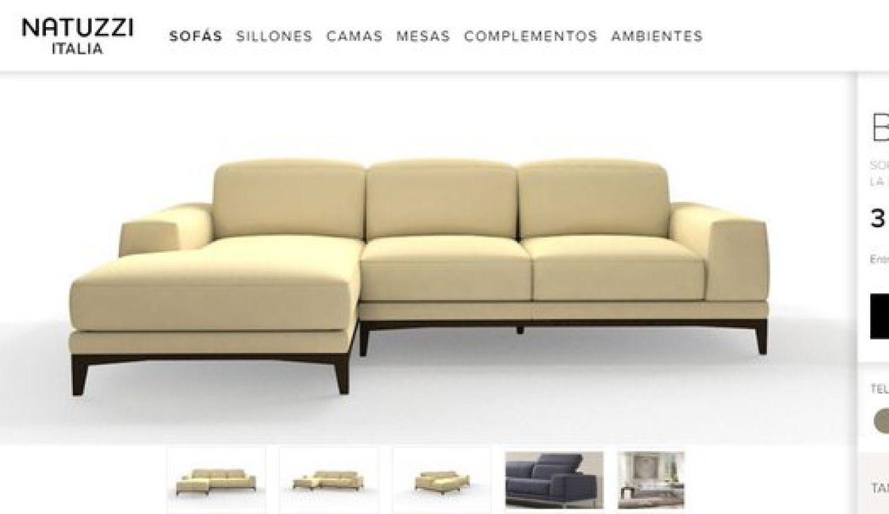Una marca pone a la venta sofás de 3.500€ a 3€ y 4€ cada uno por error