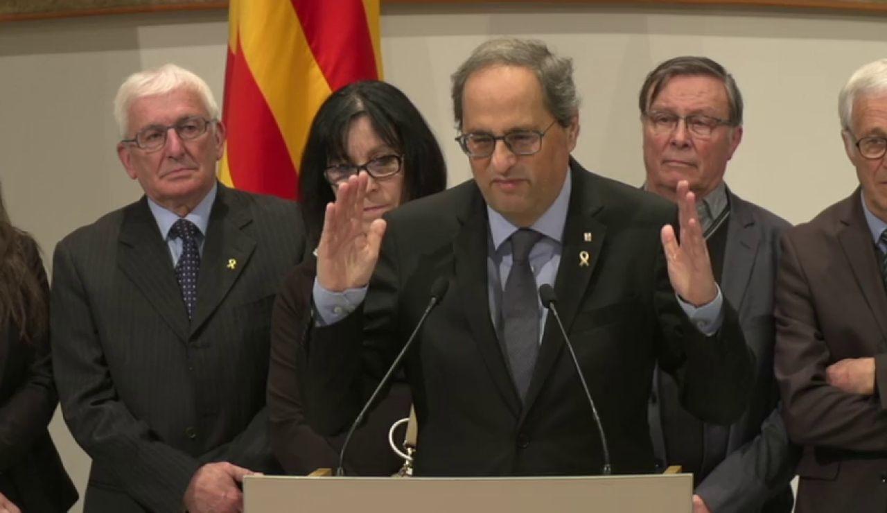 Quim Torra insiste en reclamar un mediador internacional 24 horas después de reunirse con Pedro Sánchez
