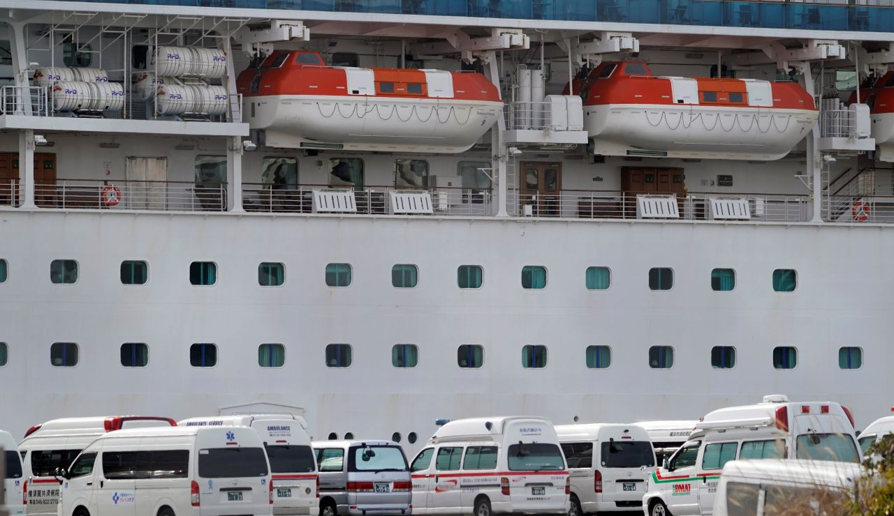 Ascienden a 64 los infectados por coronavirus en el crucero 'Diamond Princess'