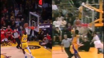 Lebron James emula la jugada que Kobe Bryant realizó hace 19 años