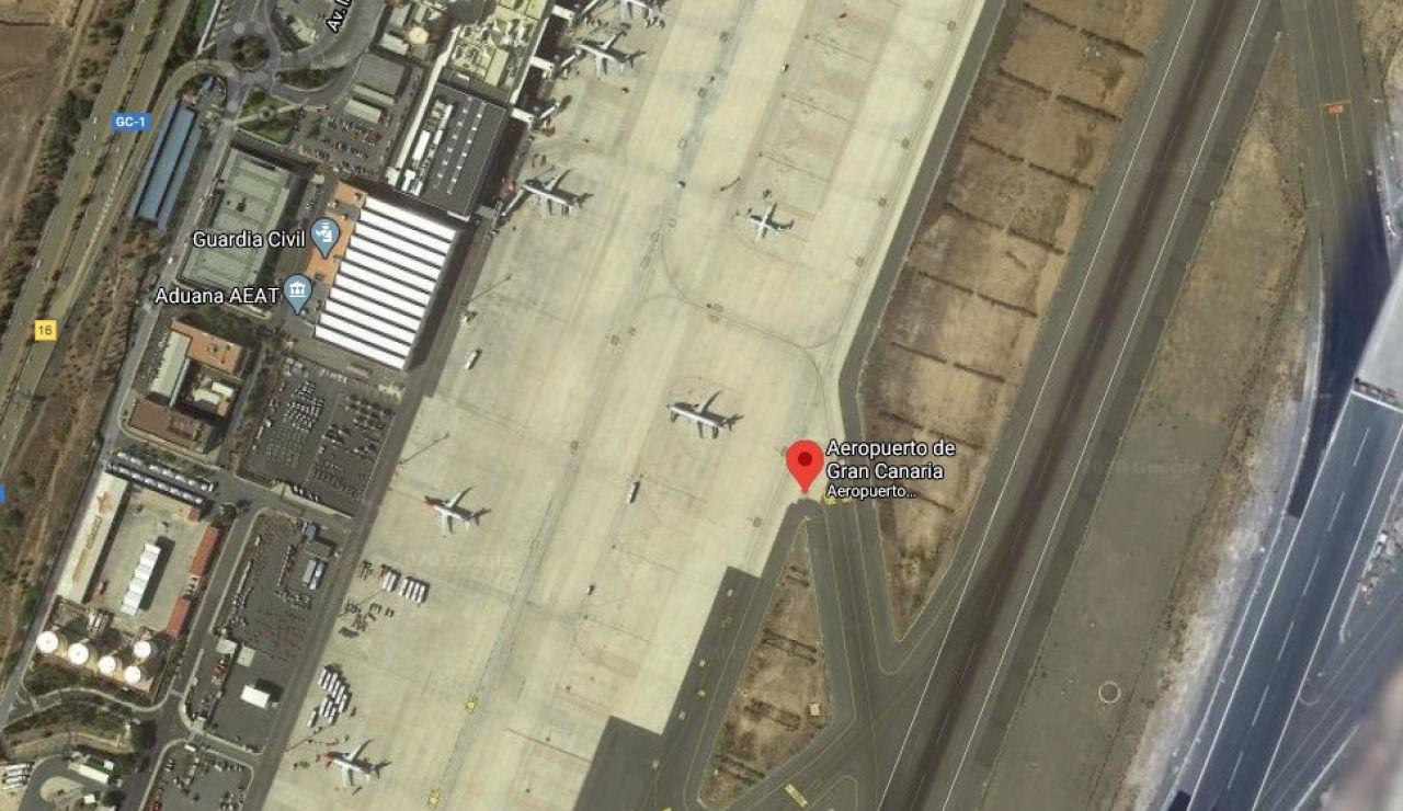 Imagen de Google Maps del aeropuerto de Gran Canaria