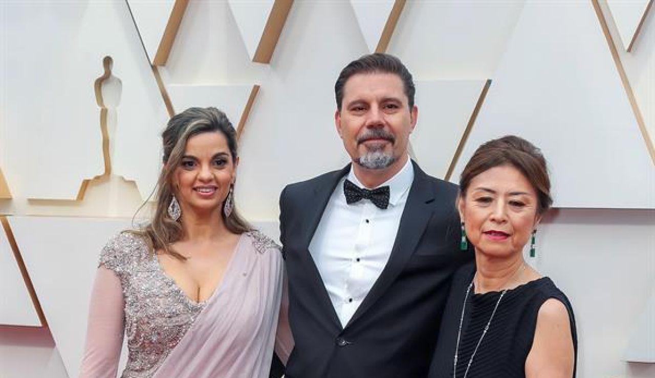Sergio Pablos, el director de la película de animación 'Klaus', acompañado de Marisa Roman y Jinko Gotoh