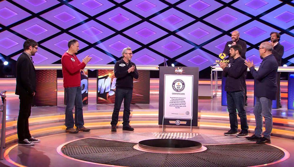 'Los Lobos' reciben su nuevo récord Guinness en '¡Boom!' y se emocionan al recordar a Jose Pinto