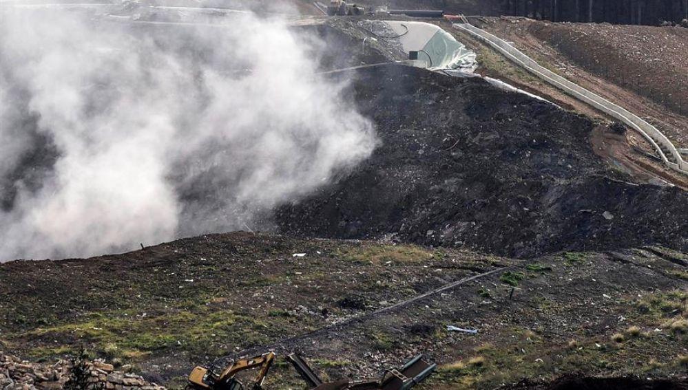 Trabajos de rescate de los trabajadores sepultados en Zaldibar