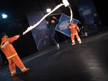 La comba del infierno, el reto más peligroso afrontado por los gimnastas de 'El Hormiguero 3.0'
