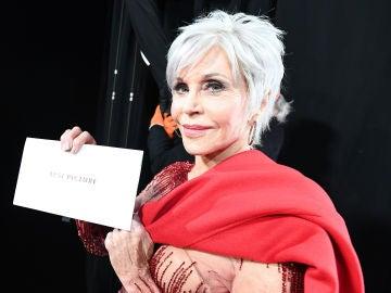 Jane Fonda durante la gala de los Premios Oscar 2020