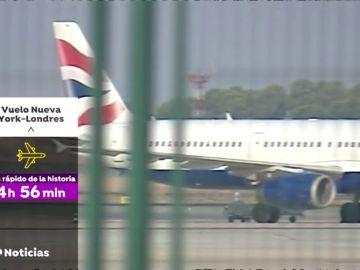 REEMPLAZO Un avión bate el récord de velocidad en un vuelo entre Nueva York y Londres por los vientos huracanados de la tormenta 'Ciara'