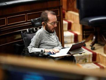 El diputado de Unidas Podemos Pablo Echenique en el Congreso