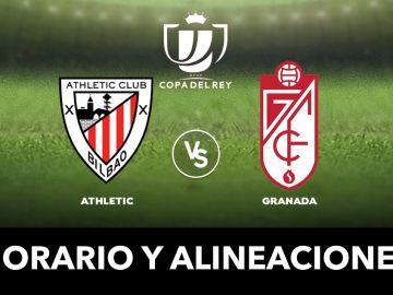 Athletic - Granada: Alineaciones y dónde ver el partido de Copa del Rey en directo