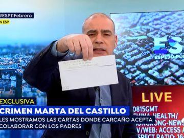 Estas son las cartas donde Miguel Carcaño acepta colaborar con los padres de Marta del Castillo