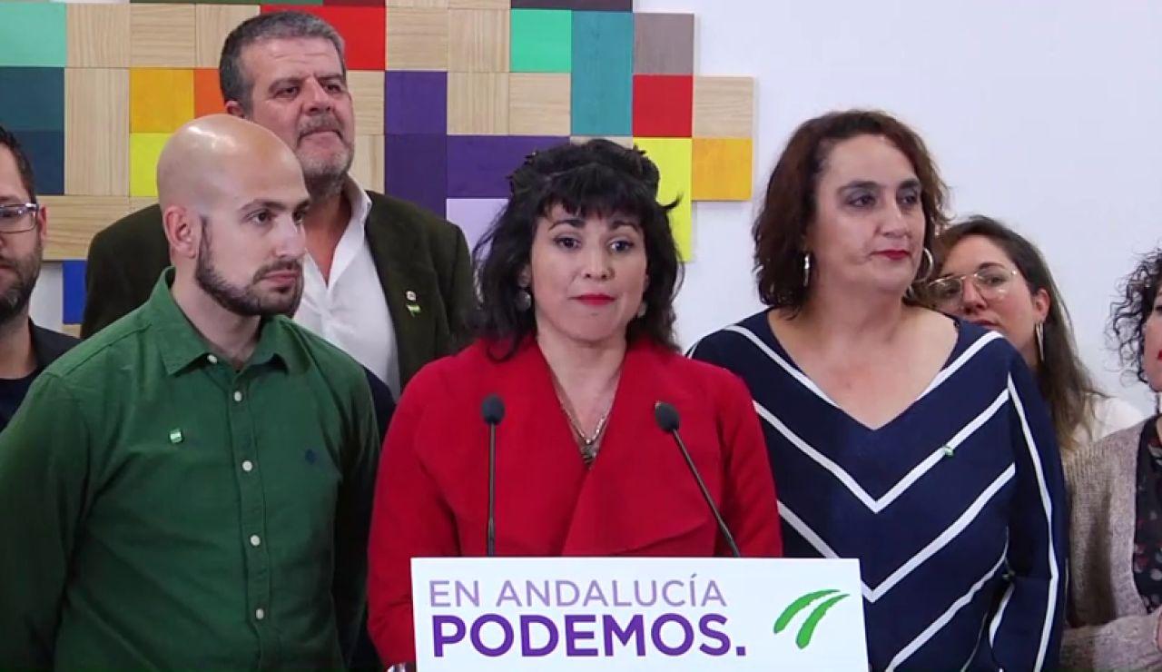 """La líder de Podemos Andalucía, Teresa Rodríguez, está ya pensando en un nuevo partido """"menos madrileño, masculino y de clase media"""""""
