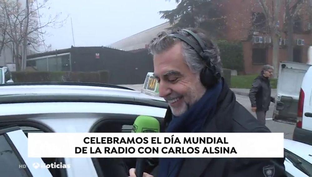 """Carlos Alsina celebra el Día Mundial de la Radio en Onda Cero """"Más de uno"""", fuera del estudio. Vean..."""