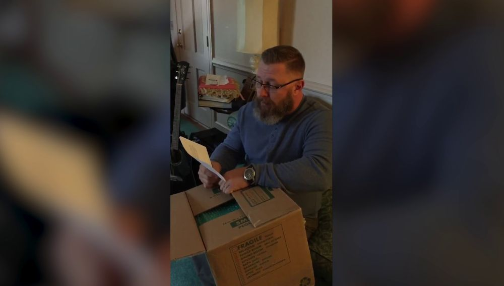 Un padre recibe un regalo especial