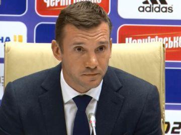 Andrei Shevchenko, seleccionador de Ucrania.