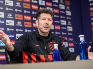 El entrenador del Atlético de Madrid, Diego Pablo Simeone.