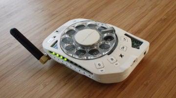 Teléfono dial rotativo