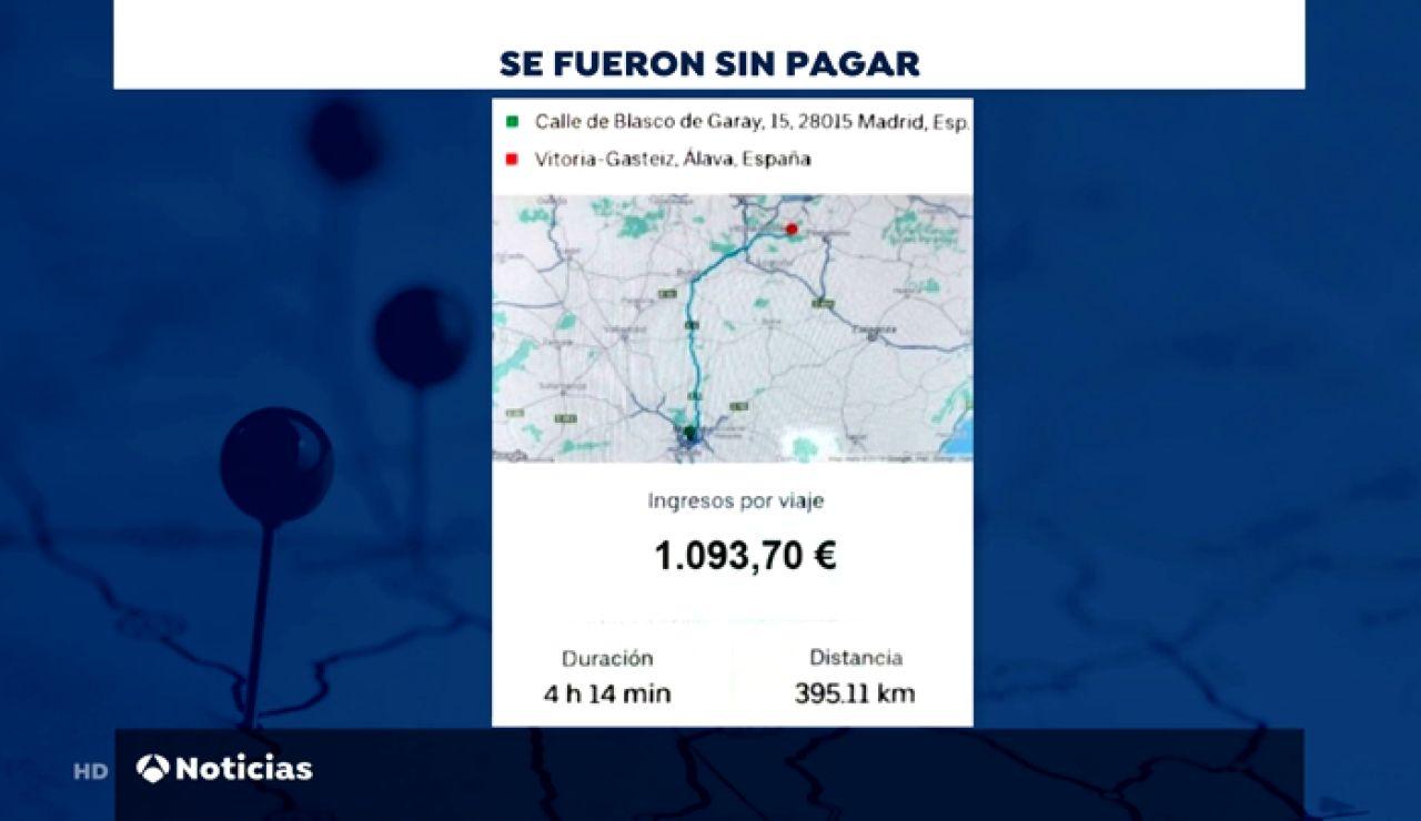 Tres jóvenes hacen un simpa a un VTC: se van sin pagar un trayecto de más de mil euros de Madrid a Navarra